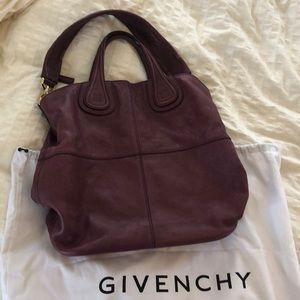 Beautiful purple Givenchy Nightingale satchel